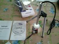 Microscopio elettronico 200X usb + supporto