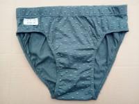 slip uomo in cotone grigio con disegni taglia XL 9