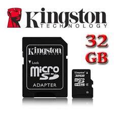 scheda di memoria € 15,00, 1 kingston 32GB di memoria micro sd, con adattatore SD, nuovo amigos www.eeevai.com