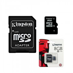 € 6.00 memory card, kingston 8 GB micro sd memory, with SD adapter, New amigos www.eeevai.com