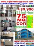 1€.39.900 appartamento T2 trilocale + bagno e veranda 75 Mq, eeevai.com capoverdevacanze.com