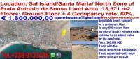 1 terreno 13000Mq praia antonio suza capoverdevacanze  eeevai