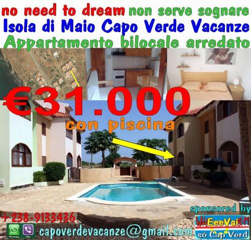 n12 térreo € 31000 residência i delfini piscina ilha de maio cabo verde eeevai.com socapverd